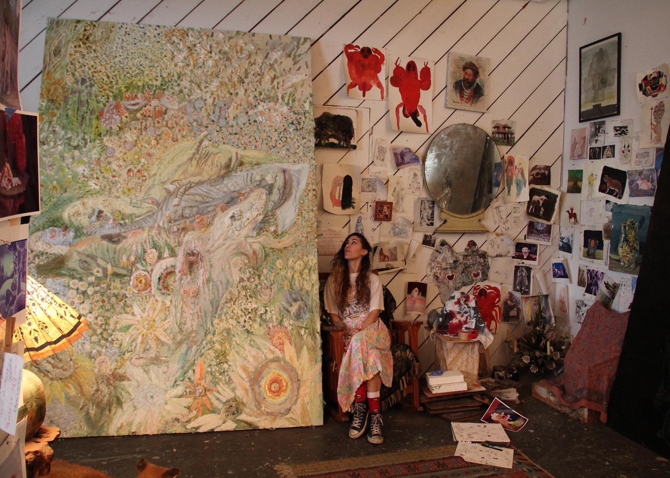 Allison Schulnik Terkenal Sebagai Seniman Berbakat